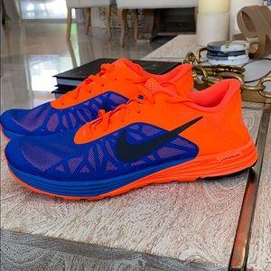 Nike lunarlaunch men blue crimson orange sz 11
